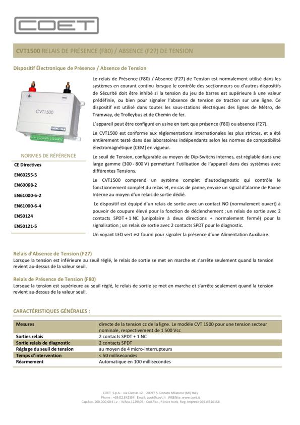 CVT-1500 -FR